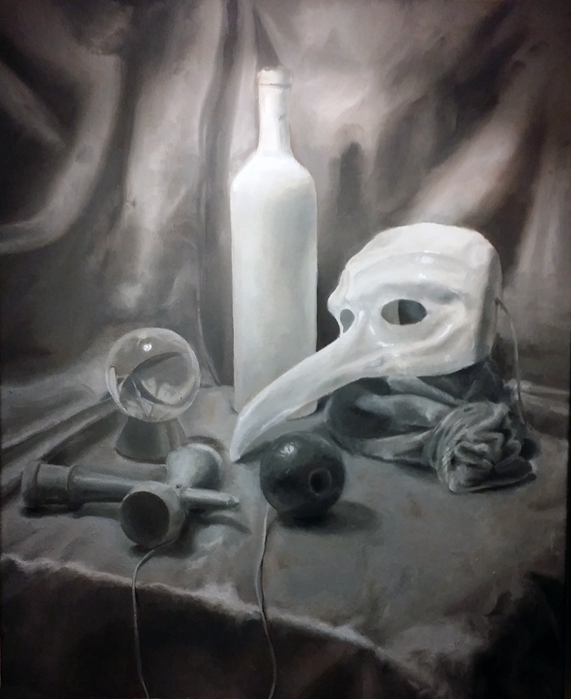 Still Life with Mask (Oils on canvas)