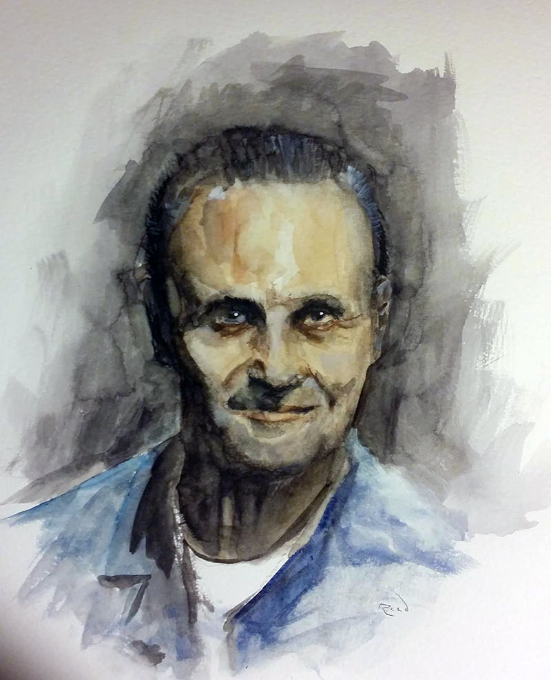 Hannibal Lecter (watercolors)
