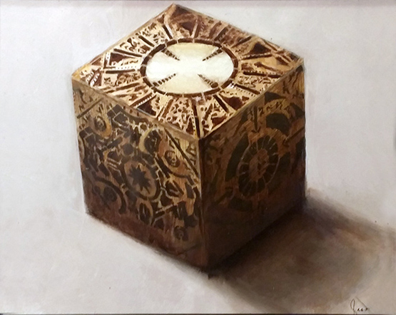Puzzlebox from Hellraiser (oils)